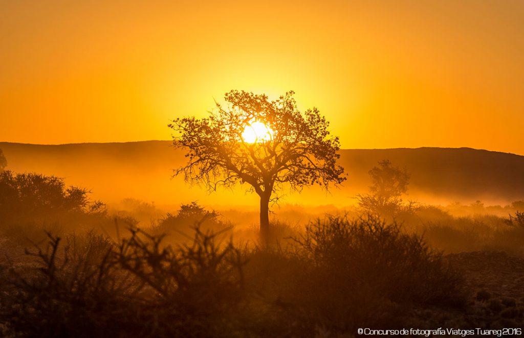 Sunset. Fotografía de Oscar Blanco Varela efectuada en el viaje a Namibia