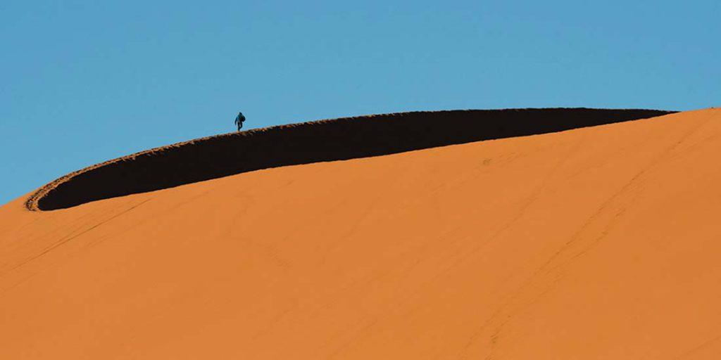 Dunas del Namib. Fotografía de Josep Maria Isach Boixader efectuada en el viaje a Namibia
